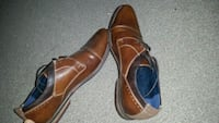 pair of brown leather shoes Greater Manchester, M7 1UE
