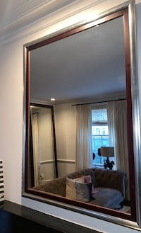 Mirror with Wood Silver Trim Chicago, 60610