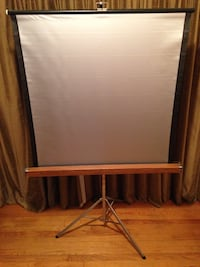 Vintage Movie Projection Screen