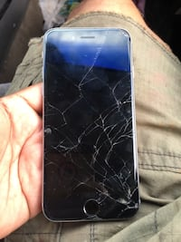 Cracked space gray iphone 6 New York, 10472