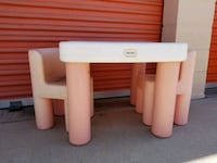 white and brown wooden side table Huntington Beach, 92647