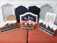 Cute wedding decor - Pretty serving trays/intricate flower arrangements/chalkboards/signs (No holds) Bossier City, 71112