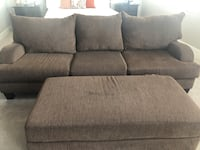Couch with matching ottoman