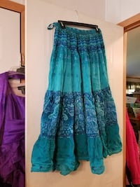 women's teal and blue maxi skirt Carthage, 28327