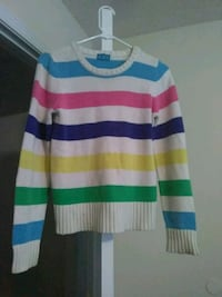 white, blue, and red striped sweater Douglasville, 30135