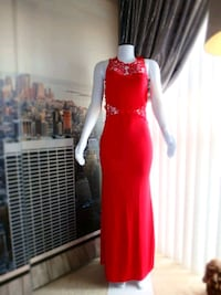 Chiffon backless evening gown - Brand new