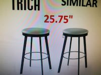 two black wooden bar stools Brampton, L6S 1N8