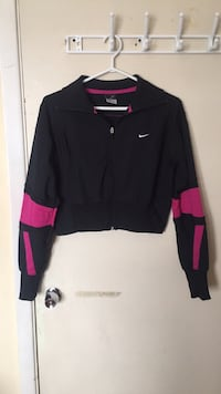 Nike Cropped Motorcycle Style Zip Up Sweater Toronto