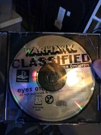 Warhawk classified playstation 1 ps1