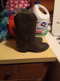 brown leather side zip cowboy boots