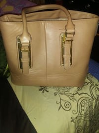 brown leather 2-way bag Pflugerville, 78660