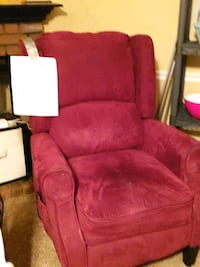 Red Recliner with Heat and Massage