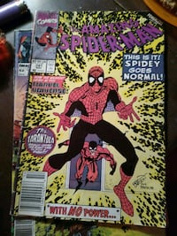 The amazing Spiderman w no power comic book