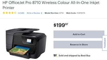 HP OfficeJet Pro 8710 Wireless Printer