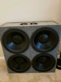 black and gray subwoofer speaker Falls Church, 22042
