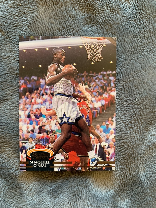 Shaquille O Neil Stadium Club Rookie Card