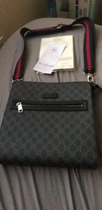 gray and black monogrammed Michael Kors leather crossbody bag Vancouver, V6P 2X3