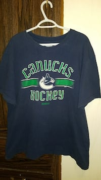 blue and green Vancouver Canucks Hockey crew-neck  Medicine Hat, T1B 1J3
