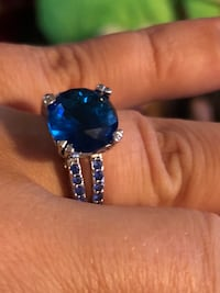Gorgeous Ring with beautiful blue stones size 8 North Chesterfield, 23234