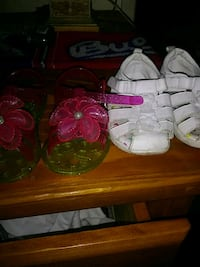 three pairs of toddler's shoes Fresno, 93701