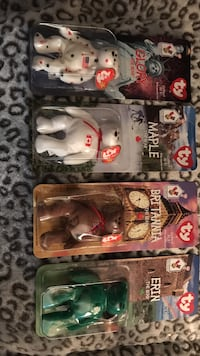 four assorted TY Beanie Babies bear plush toy packs Toledo, 43560