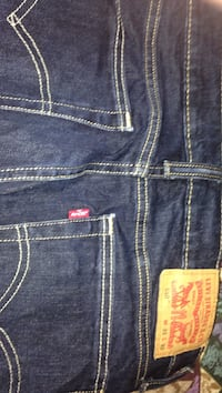 blue Levi Strauss denim bottoms
