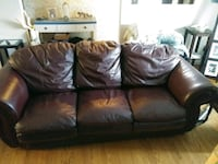 black leather 3-seat sofa Hamilton, L9A 4X5