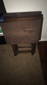 brown wooden single-drawer end table Edmond, 73003