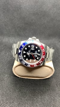 R./E./P./L./I./C./A Rolex GMT master 2 Pepsi oyster band Rolex omega Hublot Watch mens Watch. Automatic watch Toronto, M5B 1E9