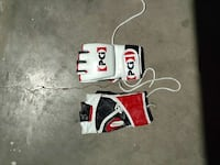red-black-and-white PD motorcycle gloves 1408 mi