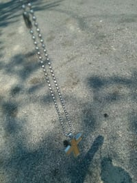 silver chain necklace with heart pendant Augusta