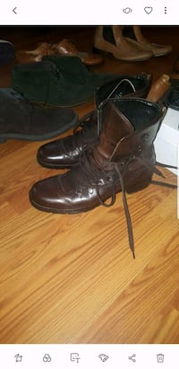 pair of black leather boots Washington, 20001