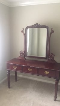 brown wooden dresser with mirror Lutherville Timonium, 21093