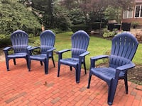 four blue wooden windsor chairs Huntington, 11743