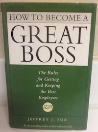 HOW TO BECOME A GREAT BOSS Book - Fox - Leadership Business Self Help Las Vegas, 89119