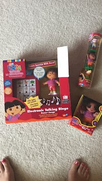 NEW never opened Electronic bingo game and Dora toys