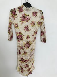 white and red floral long-sleeved dress Douglassville, 19518