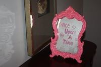 Hot Pink Once Upon a Time Mirror - Pickup in manalapan Sea Bright