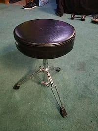 Adjustable round leather stool Silver Spring, 20902