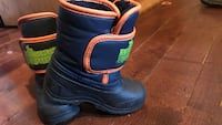 Toddler's black-blue-and-orange duck boots  Calgary, T2A 4M7