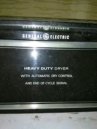 black GE heavy duty dryer Morgan Hill, 95037