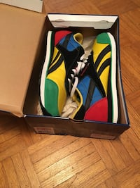 Pair of multicolored Reebok low-top sneakers with box Trent Hills, K0L