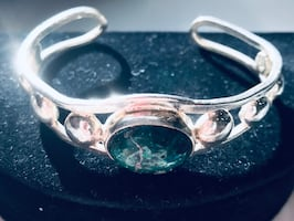 Timeless sterling silver vintage cuff