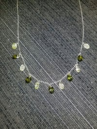 NECKLACE-PERIDOT & CITRINE BRIOLETTE CUT STONES
