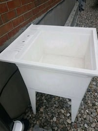 white wooden framed glass top table Laval, H7W 4L2
