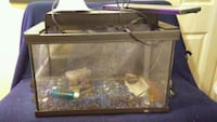 Fish tank with lights pebbles and decor! $25 OBO! Richmond Hill