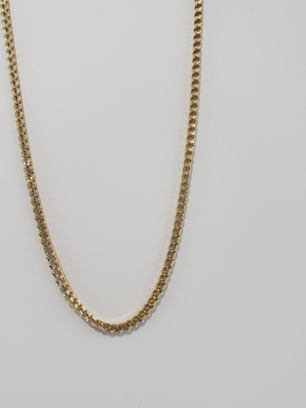 10k Yellow Gold Two-Toned Franco Chain 3