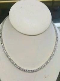 Necklace with cz, silver Mayfield Heights, 44124