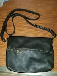 black leather 2-way bag Regina