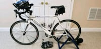 white and black road bike $525 Gaithersburg, 20882